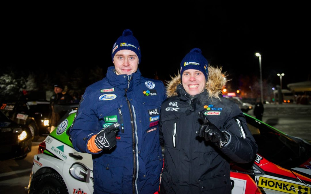 Grattis Emil till segern i FM-Rally i Joensuu!